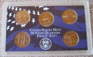 2001 S UNITED STATES MINT PROOF SET WITH STATE QUARTERS NO BOX/COA