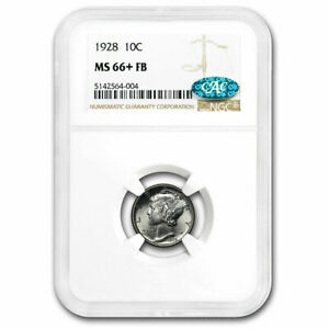 Click now to see the BUY IT NOW Price! 1928 MERCURY DIME MS 66  NGC  FB  CAC   SKU190627
