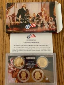 2007 US MINT PRESIDENTIAL $1 COIN PROOF SET W/BOX AND COA