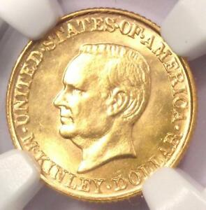 1917 MCKINLEY COMMEMORATIVE GOLD DOLLAR COIN G$1   NGC UNCIRCULATED DETAIL  UNC