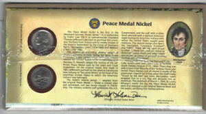 2004 US MINT PEACE MEDAL NICKEL FIRST DAY COVER P&D SET SEALED