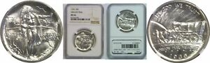 1936 OREGON TRAIL SILVER COMMEMORATIVE NGC MS 66