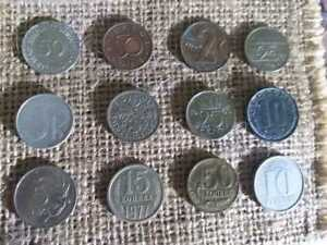 LOT OF 12 MIXED VINTAGE EUROPEAN COINS   COLLECTION FROM EUROPE   BARGAIN