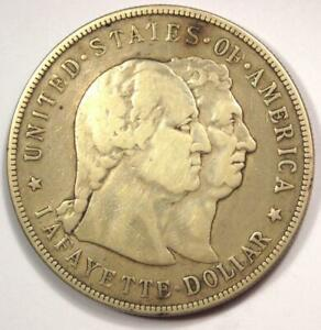 1900 LAFAYETTE COMMEMORATIVE SILVER DOLLAR $1   STRONG DETAILS    TYPE