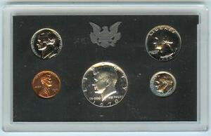 1970 UNITED STATES MINT   SPECIAL PROOF SET OF COINS  5  IN HARD PLASTIC SLEEVE