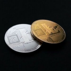 PHYSICAL COMMEMORATIVE SILVER/GOLD LITECOIN COINS LTC COLLECTION COLLECTORS GIFT