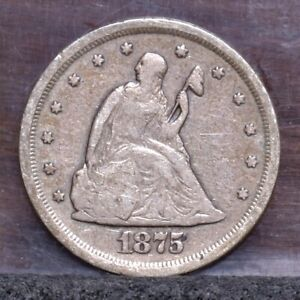 1875 S TWENTY CENT PIECE   VG  21567
