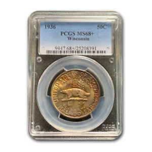 Click now to see the BUY IT NOW Price! 1936 WISCONSIN HALF DOLLAR MS 68  PCGS   SKU191562