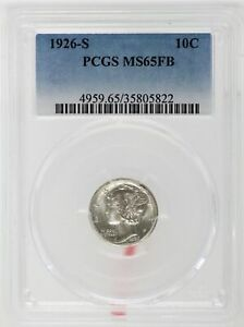 Click now to see the BUY IT NOW Price! 1926 S MERCURY SILVER DIME PCGS MS65FB FULL BANDS CERTIFIED SAN FRANCISCO JC106