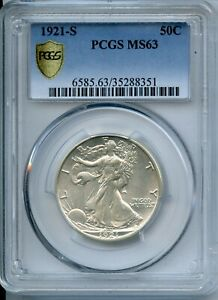 Click now to see the BUY IT NOW Price! 1921 S WALKING LIBERTY HALF DOLLAR PCGS MS63 50C CERTIFIED COIN   JC117