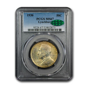 Click now to see the BUY IT NOW Price! 1936 LYNCHBURG SESQUICENTENNIAL HALF MS 67 PCGS CAC   SKU192802