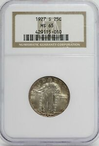 Click now to see the BUY IT NOW Price! 1927 S STANDING LIBERTY QUARTER NGC MS65 SLQ 90  FULL HEAD SAN FRANCISCO JC177