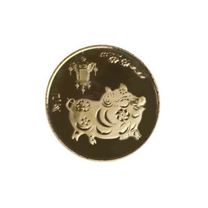 THE YEAR OF THE PIG GOLD CHINESE ZODIAC 2019 ANNIVERSARY COINS SOUVENIR COINSC$T