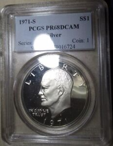 Click now to see the BUY IT NOW Price! 1971 S SILVER IKE EISENHOWER DOLLAR  PCGS PR68 DCAM