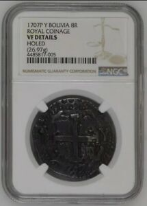 Click now to see the BUY IT NOW Price! 1707 BOLIVIA ROYAL 8 REALES NGC VF INCREDIBLY