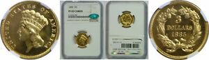 Click now to see the BUY IT NOW Price! 1885 $3 GOLD COIN NGC PR 65 CAC
