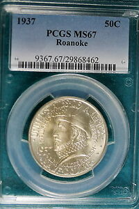 Click now to see the BUY IT NOW Price! 1937 PCGS MS67 ROANOKE COMMEMORATIVE HALF DOLLAR   B5226