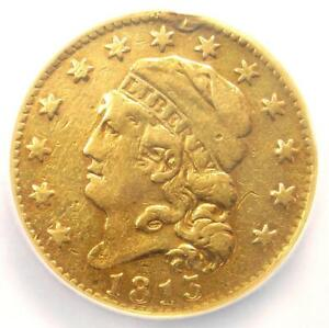 1813 CAPPED BUST GOLD HALF EAGLE $5   CERTIFIED NGC VF DETAILS    GOLD COIN