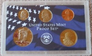 2001 S UNITED STATES MINT 5 COIN PROOF SET NO COA