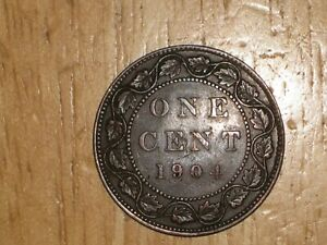 CANADA 1904 LARGE CENT COIN FINE NICE