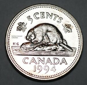 CANADA 1994 5 CENTS NICE UNC FIVE CENTS CANADIAN NICKEL