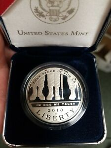 2010 AMERICAN VETERANS DISABLED FOR LIFE  UNC  SILVER PROOF DOLLAR WITH BOX COA