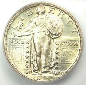 1919 S STANDING LIBERTY QUARTER 25C COIN   CERTIFIED ICG MS65   $6 190 VALUE