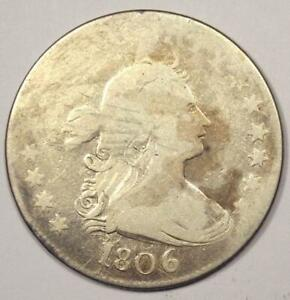 1806 DRAPED BUST QUARTER 25C    EARLY DATE COIN