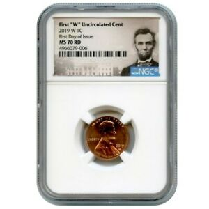 Click now to see the BUY IT NOW Price! 2019 W 1C LINCOLN CENT UNCIRCULATED NGC MS70 RD FIRST DAY OF ISSUE 4966079 006