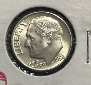 1952 D ROOSEVELT HEAD DIME CHOICE BU