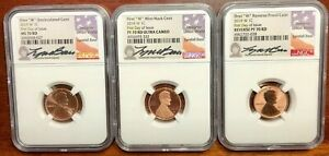 Click now to see the BUY IT NOW Price! THE BEST MODERN LINCOLN 3 COIN MATCHED SET. ALL FDOI