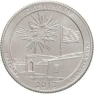 2013 D PARKS QUARTER ATB FORT MCHENRY HISTORIC SHRINE CHOICE BU CN CLAD US COIN