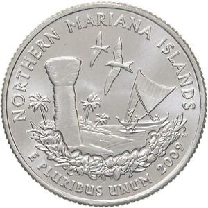 2009 D TERRITORIES QUARTER NORTHERN MARIANA ISLANDS CHOICE BU CN CLAD US COIN