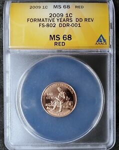 Click now to see the BUY IT NOW Price! 2009 LINCOLN CENT DOUBLED DIE REVERSE ANACS CERTIFIED MS 68 RD FS 802 TOP POP