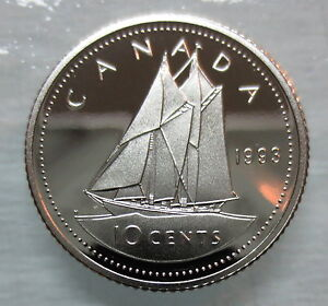 1993 CANADA 10 CENTS PROOF DIME COIN