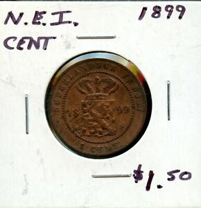 1899 NETHERLANDS EAST INDIES 1 CENT COIN FH661