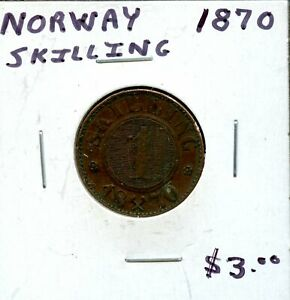 1870 NORWAY 1 SKILLING  FH667
