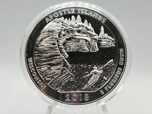 2018 APOSTLE ISLAND 5OZ .999 FINE SILVER AMERICA THE BEAUTIFUL SERIES