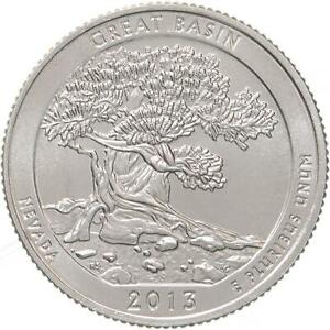 2013 D PARKS QUARTER ATB GREAT BASIN NATIONAL PARK GEM BU CN CLAD US COIN