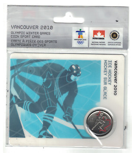 2010 VANCOUVER OLYMPICS 25 CENTS COLOURED COIN ICE HOCKEY