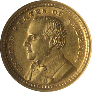 1903 LOUISIANA PURCHASE MCKINLEY COMMEMORATIVE GOLD $1 ANACS AU55 DETAILS