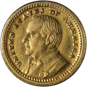 1903 LOUISIANA PURCHASE MCKINLEY COMMEMORATIVE GOLD $1 XF/AU DETAILS NICE STRIKE