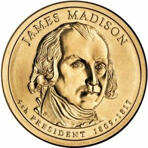 2007 D JAMES MADISON US $1 DOLLAR PRESIDENTIAL UNCIRCULATED BRILLIANT SHARP COIN
