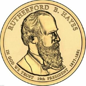 2011 D RUTHERFORD HAYES US $1 DOLLAR PRESIDENTIAL UNCIRCULATED BRILLIANT COIN