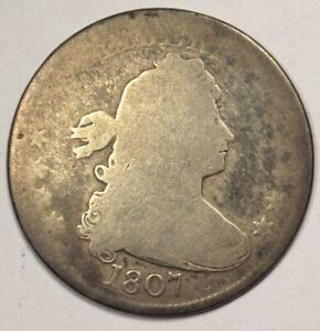 1807 DRAPED BUST QUARTER 25C    EARLY DATE COIN