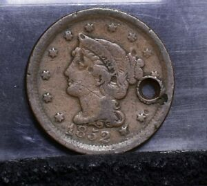 1852 LARGE CENT   CULL DETAILS  24408