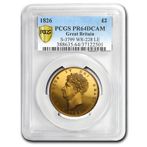 Click now to see the BUY IT NOW Price! 1826 GREAT BRITAIN GOLD 2 POUNDS GEORGE IV PR 64 DCAM PCGS   SKU197304