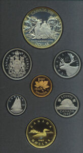 1989 DOUBLE DOLLAR PROOF SET SILVER DOLLAR MACKENZIE RIVER 7 COINS SET