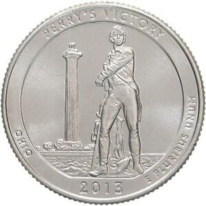 2013 D PARKS QUARTER ATB PERRY'S VICTORY PEACE MEMORIAL GEM BU CN CLAD US COIN