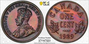 Click now to see the BUY IT NOW Price! 1929 CANADA 1 CENT PCGS SP65 BN. LY  SPECIMEN 1 CENT